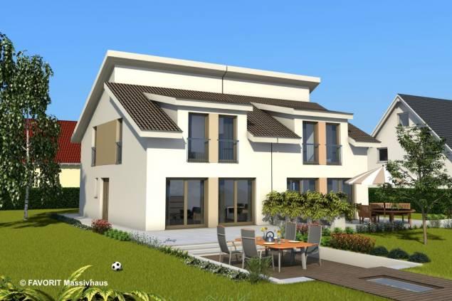 ibfrank gmbh die stadtvilla finesse 124 das etwas andere doppelhaus. Black Bedroom Furniture Sets. Home Design Ideas